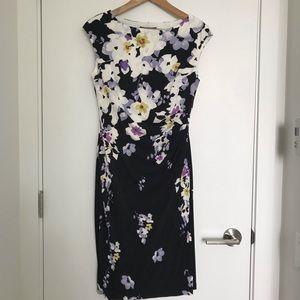 LAUREN RALPH LAUREN   Stretch Floral Dress